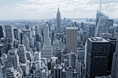 Fototapete Abstract Blick von der Höhe auf Manhattan