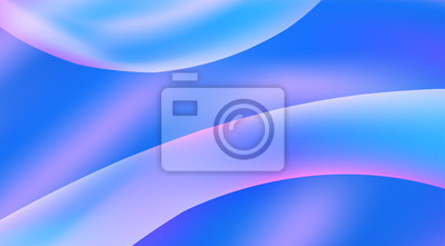 Fototapete Abstract blue and mauve gradient background with smooth shapes. Vector graphics