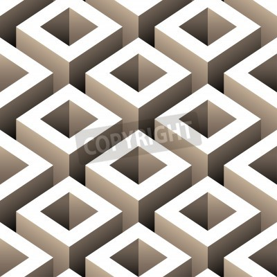 Fototapete abstract boxes 3d seamless pattern