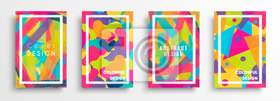 Fototapete Abstract color background set for creative design