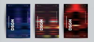 Fototapete Abstract covers with Motion gradient. Blurred colors vector background.
