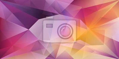 Fototapete Abstract crystal background with refracting light and highlights in purple and yellow colors