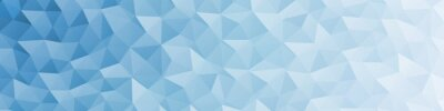 Fototapete Abstract Delaunay Voronoi trianglify color diagram background illustration