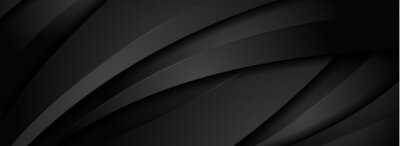 Fototapete Abstract Dynamic Black Background with Various Shape Design. Usable for Background, Wallpaper, Banner, Poster, Brochure, Card, Web, Presentation. Vector Illustration Design Template.