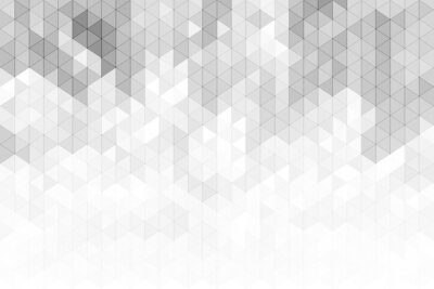 Fototapete Abstract geometric background with grey and white color tone triangle shapes.