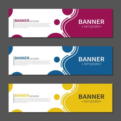 Fototapete Abstract geometric design banner web template. Vector liquid shape layout banners. Template ready for use in web or print design.