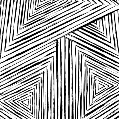 Fototapete abstract geometric pattern background, with strokes and splashes