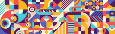Fototapete Abstract geometric pattern design in retro style. Vector illustration.