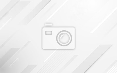 Fototapete Abstract geometric white and gray color elegant background. vector illustration