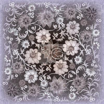 abstract grunge floralen Ornament