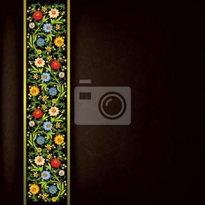 abstract grunge floralen Ornament mit Farbe Blumen