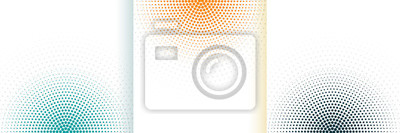 Fototapete abstract halftone white background set in three colors