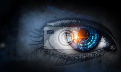Fototapete Abstract high tech eye concept