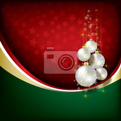 Abstract Hintergrund mit Weihnachtsschmuck