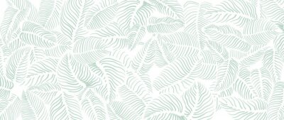 Fototapete Abstract leave background pattern vector. Tropical monstera leaf design wallpaper. Botanical texture design for print, wall arts, and wallpaper.