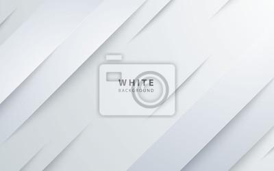 Fototapete Abstract light silver background vector. Modern diagonal white background.