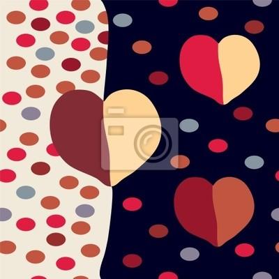 Abstract modern nahtlose Muster mit Herzen