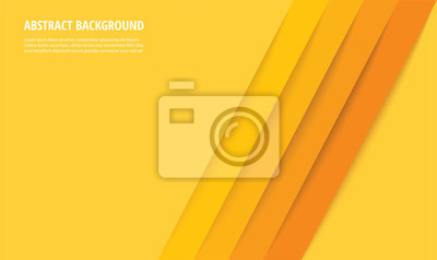 Fototapete abstract modern yellow lines background vector illustration EPS10