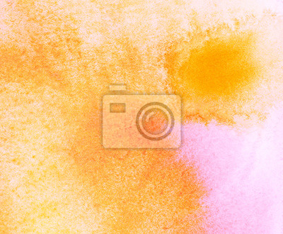Abstract orange Aquarell Hintergrund