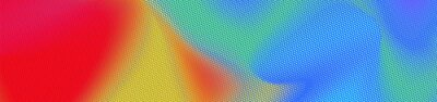 Fototapete Abstract panoramic colorful halftone wide background. Panorama, Modern gradient Multicolor Backdrop with dots. Dotted soft lines pattern. Vector illustration.