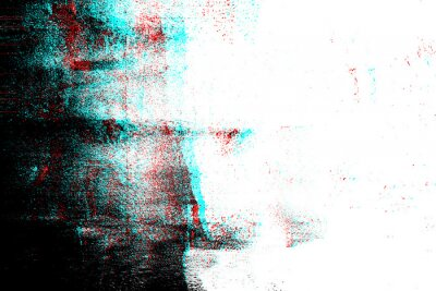 Fototapete Abstract photocopy texture background, Color double exposure, Glitch