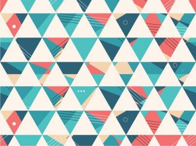 Fototapete Abstract Seamless geometric shape vector pattern