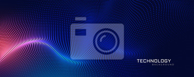 Fototapete abstract technology particles mesh background
