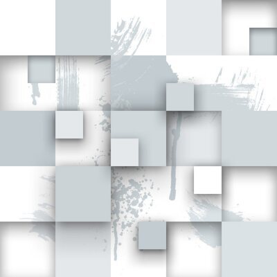 Fototapete Abstract Texture mit Quadraten und Farbspritzer.