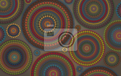 Abstract vector background with a lot of  variegated circles and