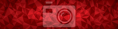 Fototapete Abstract vector Geometrie Hintergrund, rote Flugzeuge Panorama