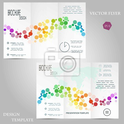 Abstract vector modernen dreifachen flyer / broschüre design ...