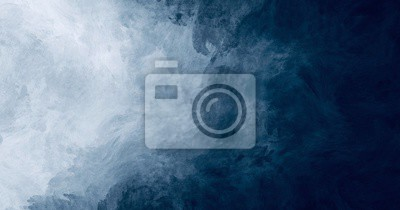 Fototapete Abstract watercolor paint background dark blue color grunge  texture for background, banner