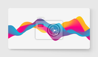 Fototapete Abstract wavy background with modern gradient colors. Trendy liquid design. Motion sound wave. Vector illustration for banners, flyers and presentation.