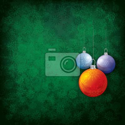 Abstract Weihnachten Grunge Hintergrund mit Dekorationen