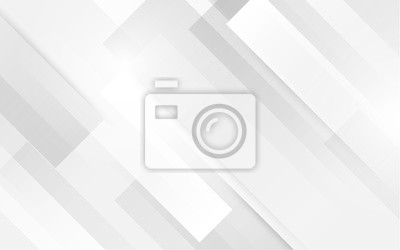 Fototapete Abstract white square shape with futuristic concept background