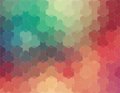 Fototapete Abstrakt 2D geometrische bunten Hintergrund