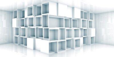 Fototapete Abstrakt 3d leeren Innenraum mit Schrank in der Ecke