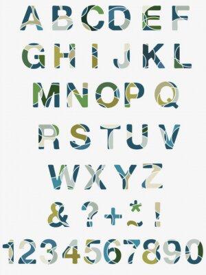 Fototapete Abstrakt Alphabet
