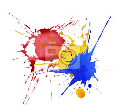 Abstrakt Aquarell, Tinte spritzt