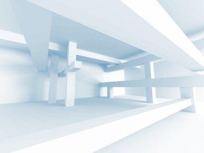 Fototapete Abstrakt Architektur Konzept. Moderne Gebäude Innenarchitektur