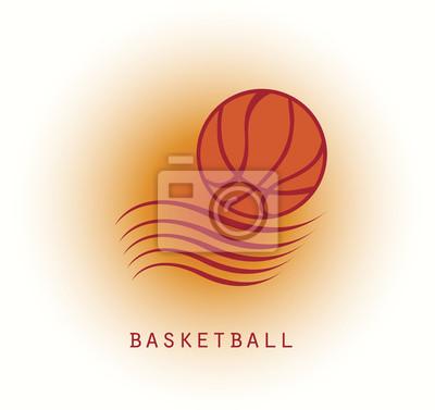 Abstrakt basketball logo