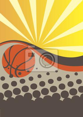 Abstrakt Basketball-Poster mit Sonnenstrahlen