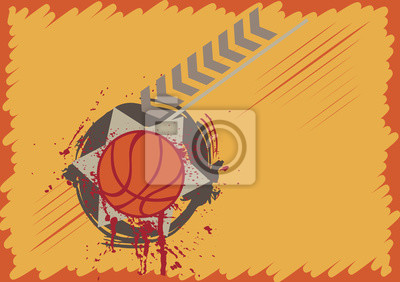 Abstrakt Basketball-Spielfeld mit Spritz