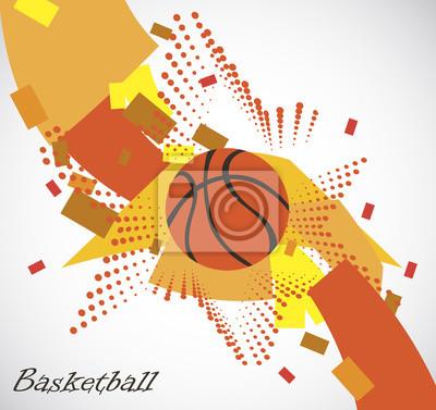 Abstrakt Basketball-Spielfeld mit Stern