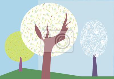 Abstrakt Bäume Hintergrund für die Karte