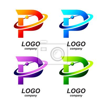 Logo Design Template | Abstrakt Buchstaben P Runde Ring Form Business Logo Design Template