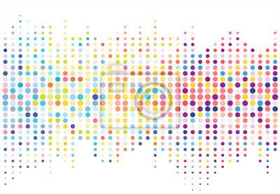 Fototapete Abstrakt bunte Halbton Textur Punkte Muster. Vektor