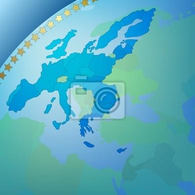 Abstrakt Business Hintergrund Europa-Karte