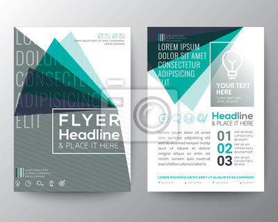 Abstrakt dreieck form poster broschüre flyer design layout vektor ...
