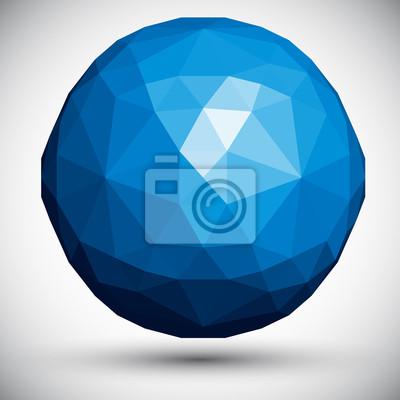 Fototapete Abstrakt facettierten Kugel, 3D-Vektor-Design.